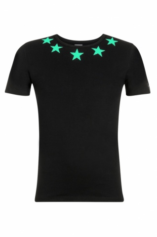 yessir_merchandise_custom_glow_in_the_dark_sterren_shirt_met_naam_en_nummer_sir-ralph_owusu_webshop_van_vlogger_stretch_fitted_basic_shirt_strak